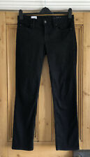 Ladies Gap Black Real Straight Jeans Size 30R