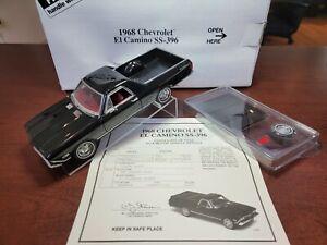 1968 Chevrolet EL Camino SS - 396 Tuxedo Black 1/24 Danbury Mint Diecast