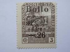 VECCHIA MARCA DA BOLLO posta Fiume 1918 SOVRASTAMPA lire 5  26