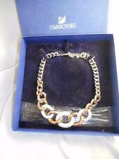 BOXED AUTHENTIC SWAROVSKI BRAND 2 TONE GRADUATED CENTER CRYSTAL LINK NECKLACE