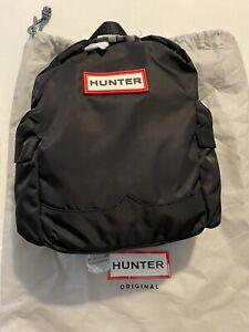 NEW RARE Hunter Original Kids Backpack Clip Top Black
