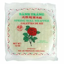 Red Rose Spring Rolls Rice Paper Round Wrapper Roll Banh Trang 22 cm [12 oz]