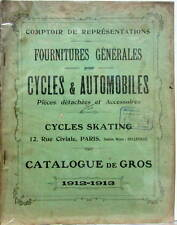1912 FOURNITURE POUR CYCLE ET AUTOMOBILE SKATING ACCESSOIRE FOURNITURE PHARE