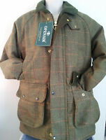 MENS DERBY BRANDED TWEED SHOOTING HUNTING FARMING PADED JACKET COAT SIZE XS-XXL