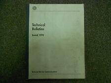 1992 VW Technical Bulletins Service Repair Shop Manual FACTORY OEM BOOK 92 DEAL