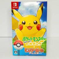 Let's Go Pikachu Pokemon video game Poke Ball Plus Pack Nintendo Switch 2018 NEW