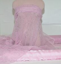 """GLITTER TULLE NETTING SHEER  ORCHID/LILAC  60 """"  POLY , DRESS, COSTUME, CRAFTS"""