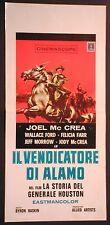 Locandina LA STORIA DEL GENERALE HOUSTON 1957 JOEL MC CREA WALLACE FORD F.FARR