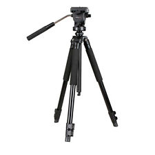 "KingJoy VT-1200 Pro 62"" Travel Video Tripod Fluid Ball Head,Handle,Quick Release"