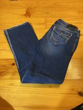 Womens Size 28 Silver Jeans Tuesday Slim Low Boot 31 Inseam