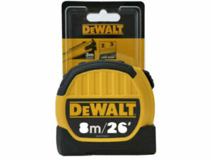 DEWALT 8m/26' Measuring Tape - Large Marks - DWHT36027-0 (R85)