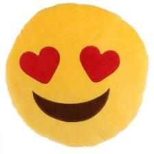 Emoji Face Symbol 28cm Soft Plush Cushion / Pillow - Assorted Designs Heart Eyes