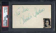 """Ursula Andress Actress James Bond Signed 3"""" x 5"""" Index Card PSA/DNA"""
