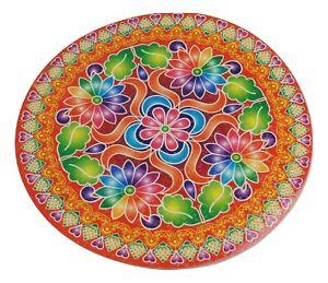 Beautiful Diwali Holographic Rangoli Round Indian Mandala Sticker 21.5cm 1 Sided
