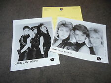GIRLS CAN'T HELP IT Pure Wild 1983 Press Kit With TWO 8x10 Promo Photos