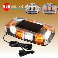 Amber/White LED Emergency Warning Safety Flashing Strobe Light Bar for Truck Car