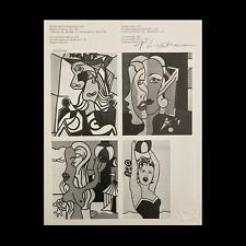 Roy Lichtenstein Original Hand Signed Print COA Certificate Of Authenticity SALE