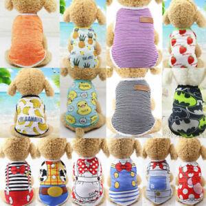1PCS Lot Dog Boy Clothes Small Pet Puppy Clothing T Shirt Vest XS,S,M,L,XL,XXL