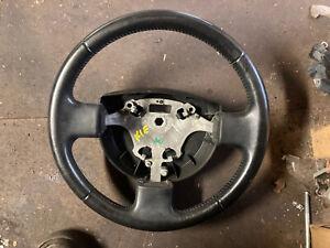 Ford fiesta steering wheel leather 3 spoke interior stearing 2002 - 08 mk6 mk 3