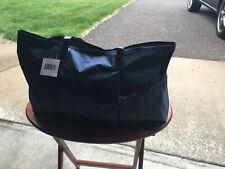 MACY' S BEACH SPORT TRAVEL SHOPPING TOTE BAG PURSE NAVY NWT WATER RESISTANT