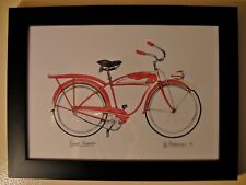 Road Runner Vintage Bicycle - Jennifer Goldberger     Hand Colored Signed Print