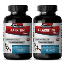 Weight Loss Super Strength Supplements L-Carnitine 500mg  Amino Acid 2 Bottle
