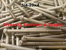 (10) 1/4-20x4 Socket Allen Head Cap Screw Stainless Steel 1/4 x 4""