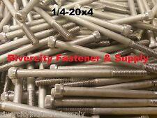 "(1) 1/4-20x4 Socket Allen Head Cap Screw Stainless Steel 1/4 x 4"""