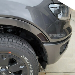 Fits 2019+ Ford Ranger Front Side Reflector Dark Tint Overlay - Smoke Front