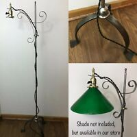 Antique Vtg Bridge Floor Lamp Iron Brass Arts & Crafts Deco Industrial Adjustabl