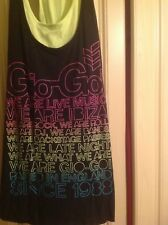 Gio Goi 2 in1 Black with Ibiza Logo & Lime Green T-Shirt Size 14