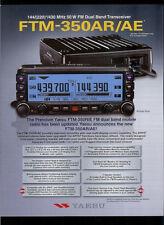 Yaesu FTM-350AR/AE 144/(220)/430 MHz Dual Band HAM Radio Factory Dealer Brochure
