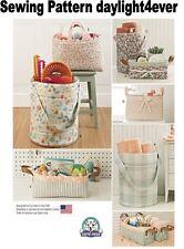 Bucket Basket Tote Organizer Simplicity Sewing Pattern 8107 New Fabric Bucket #u