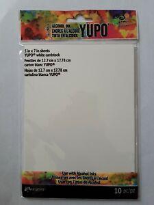 "TIM HOLTZ ALCOHOL INK YUPO 5"" x 7"" WHITE CARDSTOCK BNIP *LOOK*"