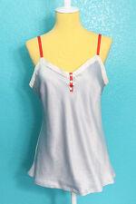 Gilligan & OMalley Sleepwear Shirt Sz M Silky Button Sailor Blue Tank Top