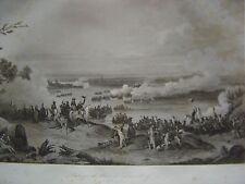 Grande gravure du Passage du Rhin à DUSSELDORF Düsseldorf  le 6 septembre 1795