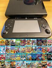 Nintendo Wii U 32GB Console System Black, 40 Games Bundle, Mario Zelda WiiU 7.5