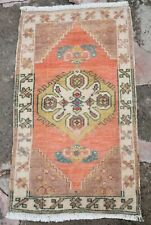 Turkish Area Rug, Bedsie Rug, Door Mat Rug, Small Tribal Rug, Bath Rug 1'7 x 2'9