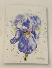 Bree Merryn Canvas Cuties Blue Iris Flower