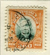 BRAZIL; 1906 early Penna Official issue fine used 300r. value