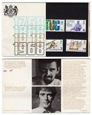 Gb Uk 1968 British Anniversaries Tuc Votes Raf Cook Ship Presentation Pack