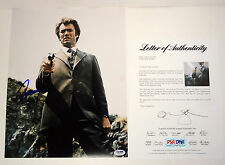 CLINT EASTWOOD DIRTY HARRY SIGNED AUTOGRAPH 11X14 PHOTO PSA/DNA COA #W09801