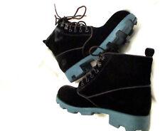 Theyskens' Theory Womens Yasmin Velvet Combat Booties Boots Sz 36.5 NIB 465