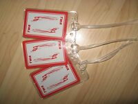 TWA Luggage Tags - Trans World Airlines Boeing 727 Playing Card Name Tag Set (3)