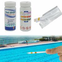 50 Pool Wasser Teststreifen 3 in 1 Schwimmbad Messung Alkalinität PH Chlor NEU