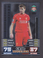 Match Attax Extra 14/15 - LE2 Steven Gerrard Liverpool - Silver Limited Edition
