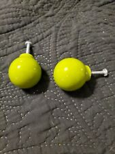 Authentic 70s Retro Lime Green Cabinet Knobs. Hardware included.