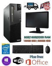 Fast Cheap Computer PC i5 3rd Gen 8GB 180GB SSD 500GB HDD Bundle Office + Gaming