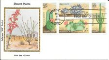 U S Fdc Colorano Silk Bx4 1945A Desert Plants Vf Ua