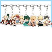 My Hero Academia Acrylic Keychain Anime Keychain Cartoon Figure KeyRing Lssed